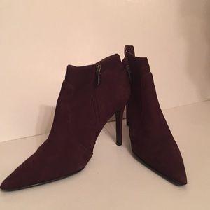 Colin Stuart leather brown heels booties 6.5